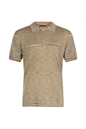Missoni Men's Space-dye Polo Shirt Orange