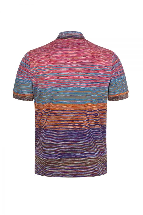 Missoni Men's Striped Polo Shirt Multicoloured