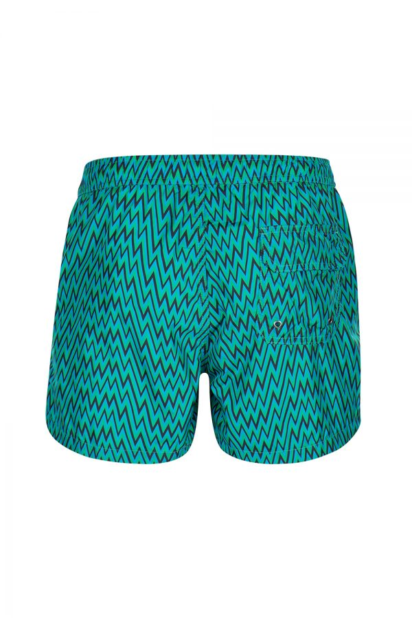 Missoni Men's Mare Zig Zag Swim Shorts Green