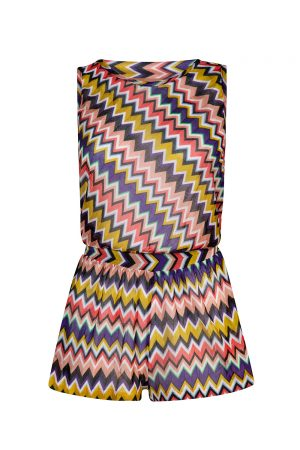 Missoni Women's Zig Zag Playsuit Multicoloured