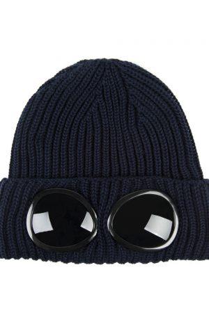C.P. Company Men's Goggle Beanie Navy