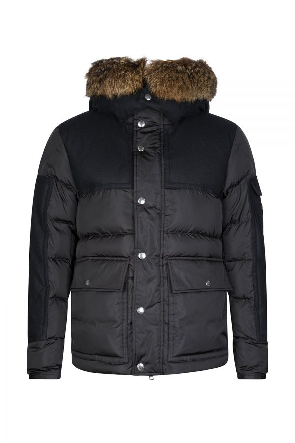 Moncler Men's Alphand Quilted Down Jacket Black