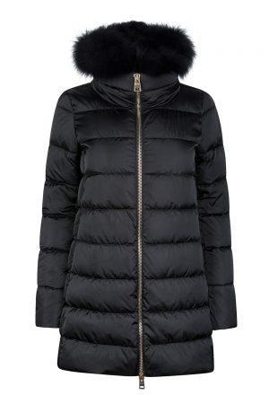 Herno Women's Hooded Puffer Coat Black