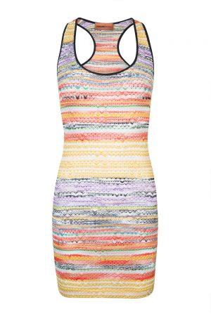 Missoni Women's Striped Mini Dress Multicoloured