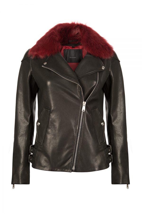 Belstaff Gaskell Women's Leather Jacket Black