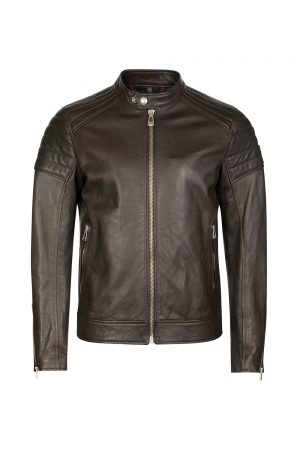 Men's Leather Jacket Rustic Moss