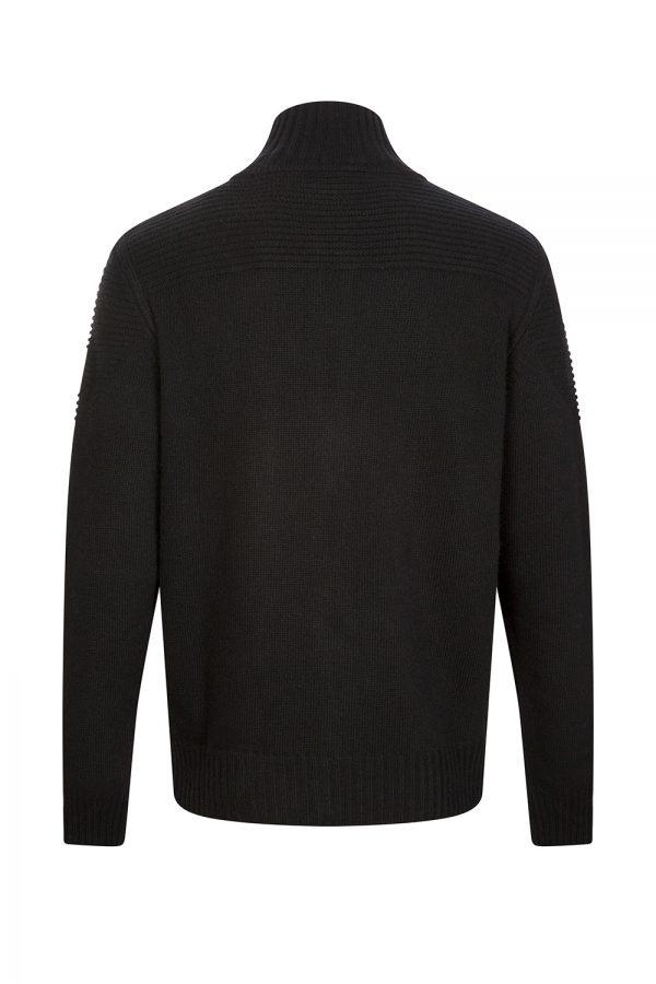 Belstaff Renhold Men's Zip Up Cardigan Black