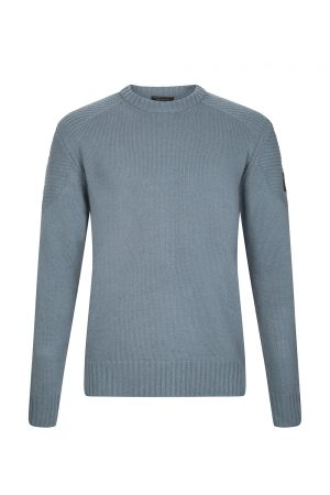Belstaff Southview Men's Sweater Blue Flint