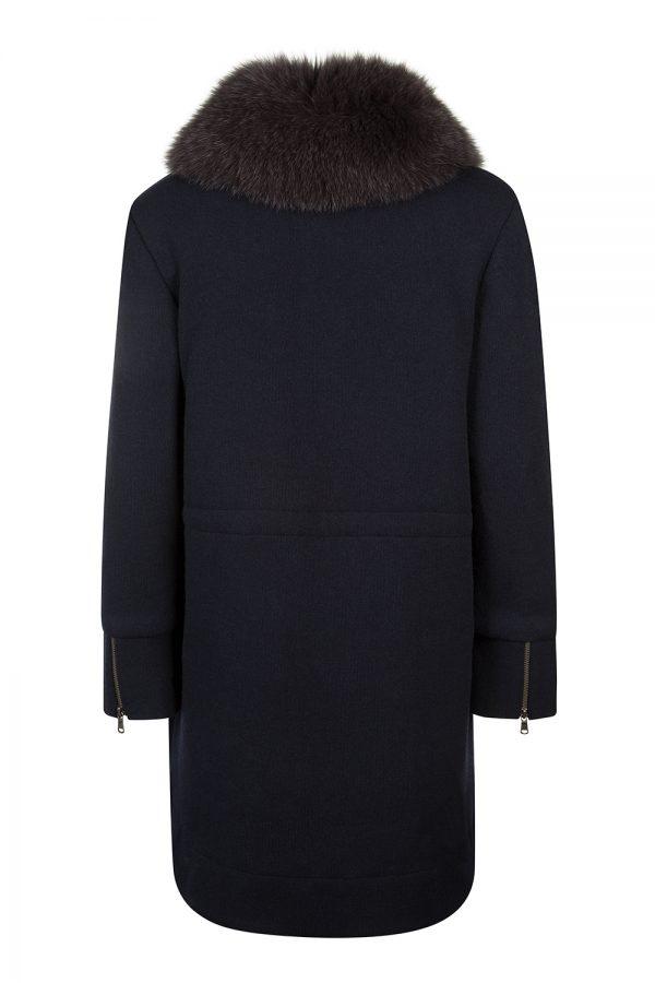 Woolrich Women's Wool Cotton Track Coat Navy
