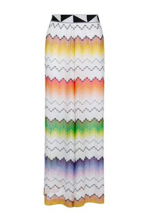 Missoni Women's Rainbow Wave Palazzo Pants White
