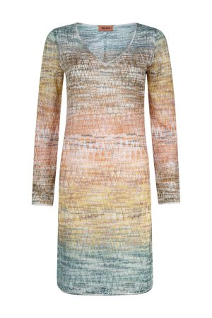 Missoni Women's Ombre Crochet-knit Dress Gold