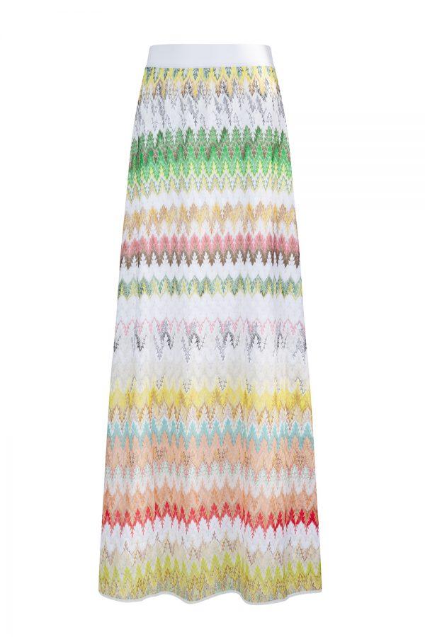 Missoni Women's Leaf patterned Long Skirt White