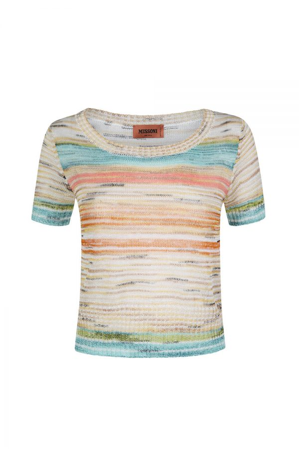 Missoni Women's Knitted Stripe Top Multicoloured