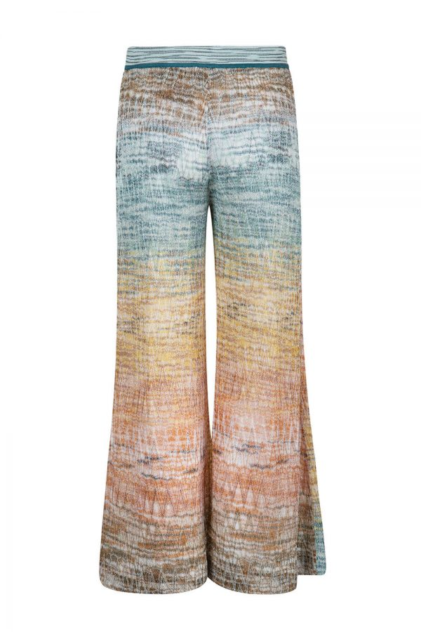 Missoni Women's Ombre Wide Leg Trousers Gold