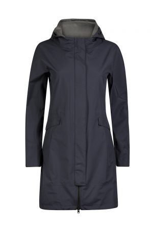 Herno Laminar Women's Hooded Raincoat Navy