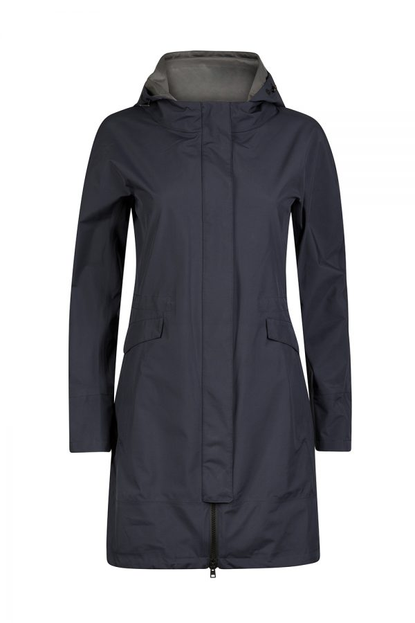 Herno Laminar Women's Hooded Raincoat Navy