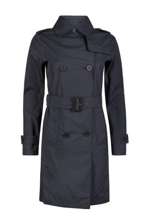 Herno Laminar Women's Belted Trench Coat Navy