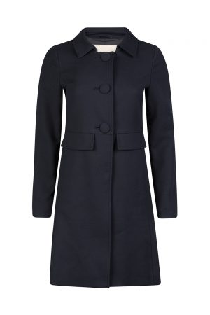 Herno Women's Single-breasted Coat Navy