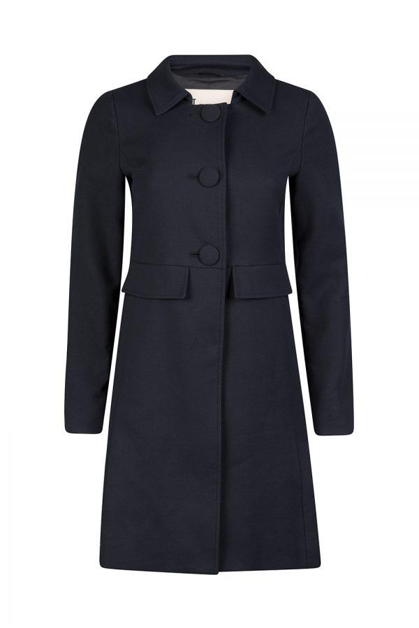Herno Women's Single-breasted Coat Navy