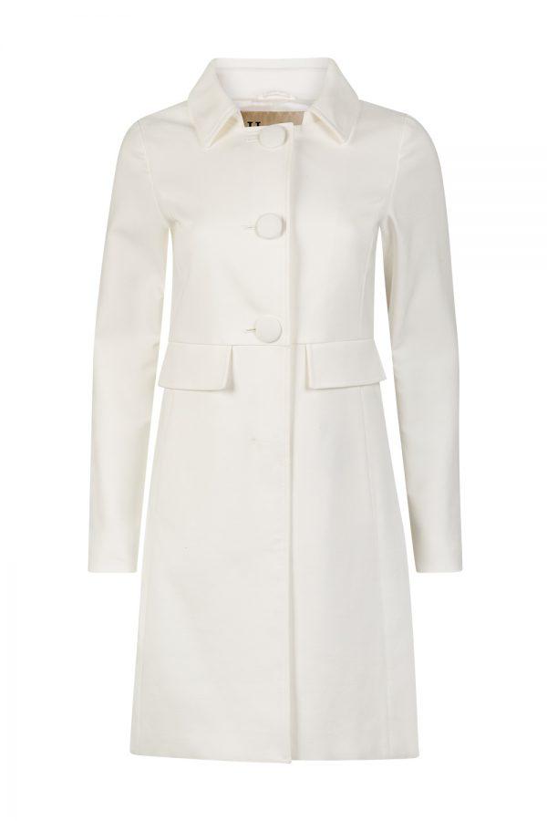 Herno Women's Cotton Spring Coat White