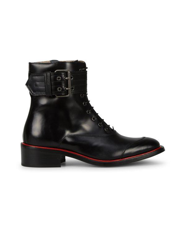 Belstaff Women's Acklington High Shine Boots Black SIDE