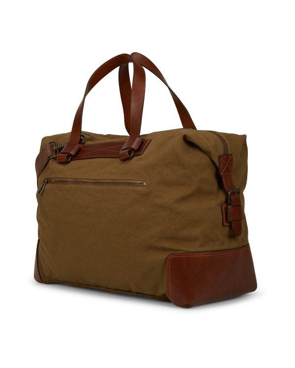 Belstaff Men's Colonial Cotton Canvas Shoulder Bag Brown BACK