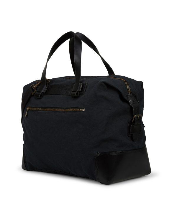 Belstaff Men's Colonial Cotton Canvas Shoulder Bag Black BACK