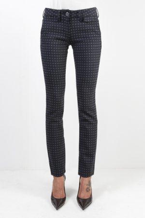 Jacob Cohën Ladies Wool-Blend Pattern Trousers Purple