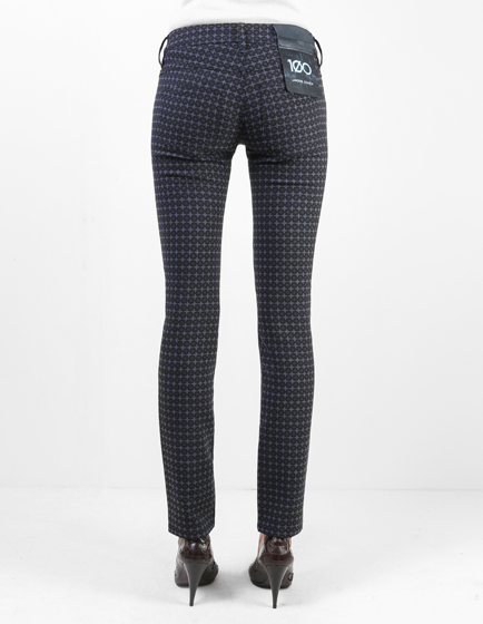 Jacob Cohën Women's Wool-Blend Pattern Trousers Grey
