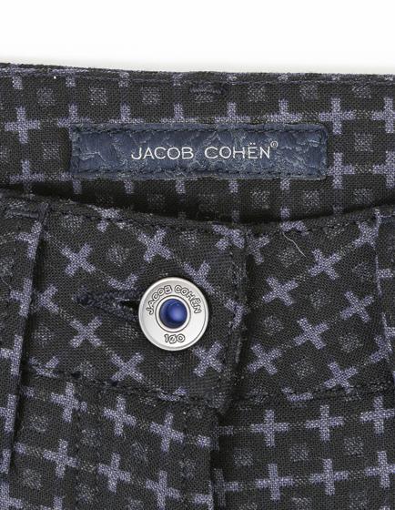 Jacob Cohën Women's Wool-Blend Pattern Trousers Grey