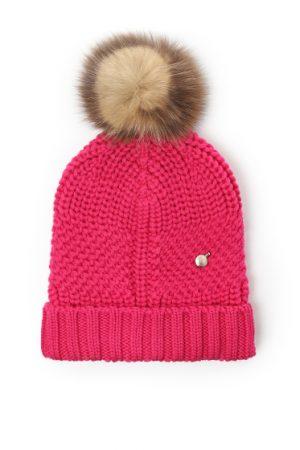Woolrich Serenity Ladies Wool Beanie Hat Pink