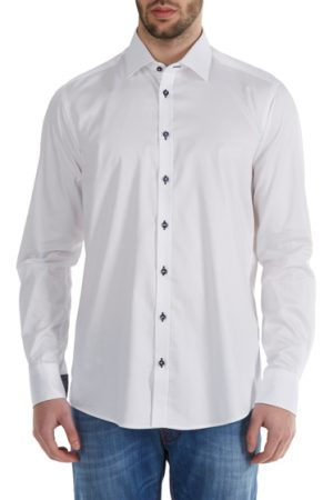 Sand Men's Slim-fit Cotton Shirt White