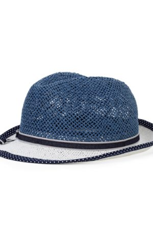 Jacob Cohën Men's Straw Panama Hat Blue