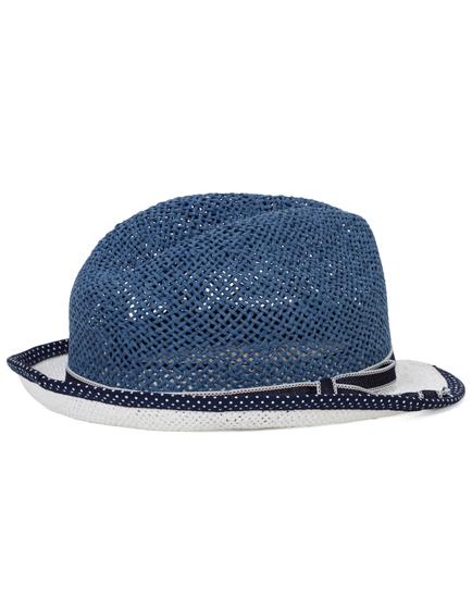 Jacob Cohën Men's Straw Panama Hat Blue