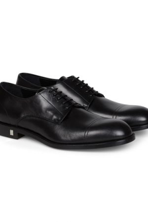 Versace Collection Men's Leather Oxford Shoes Black