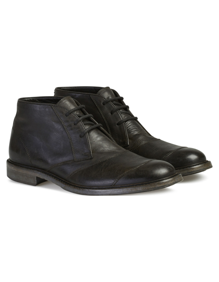 Belstaff Men's Trail Leather Chukka Boots Black