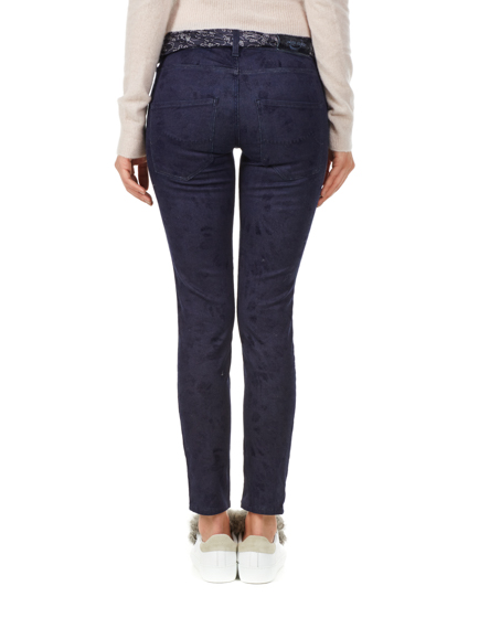 Jacob Cohën Ladies Pattern Slim Fit Jeans Blue