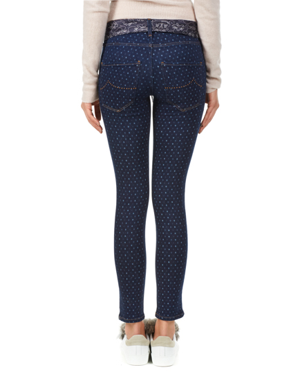 Jacob Cohën Ladies Polka-Dot Slim Fit Jeans Blue