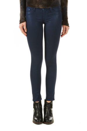Hudson Nico Metallic Super-skinny Mid-rise Ladies Jeans Blue