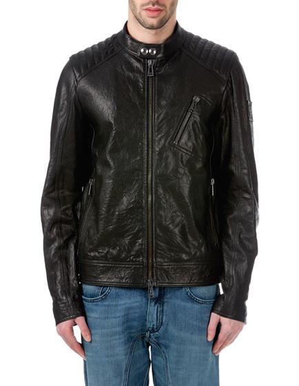 Belstaff K Racer Men's Motorcycle Jacket Black