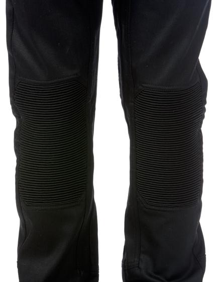 Belstaff Blackrod Men's Coated Stretch-Denim Biker Trousers Black