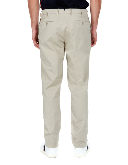 Pal Zileri Men's Slim-fit Cotton Chino Trousers Beige
