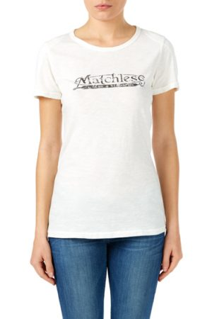 Matchless Ladies Logo T-shirt White