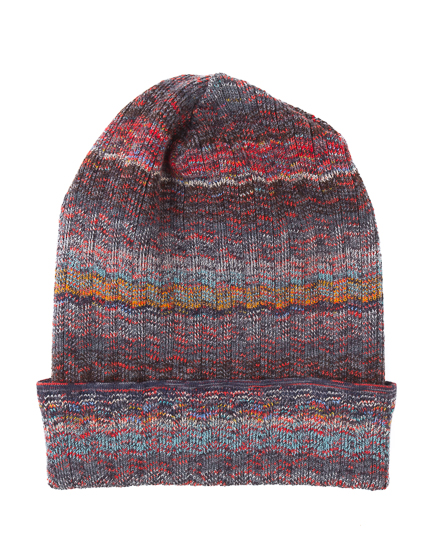 Missoni Men's Wool-blend Beanie Hat Grey