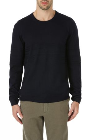 Pal Zileri Men's Extra Fine Merino Wool Sweater Navy