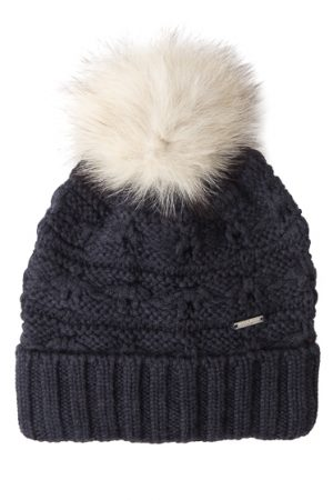 Woolrich Serenity Ladies Wool Beanie Hat Grey