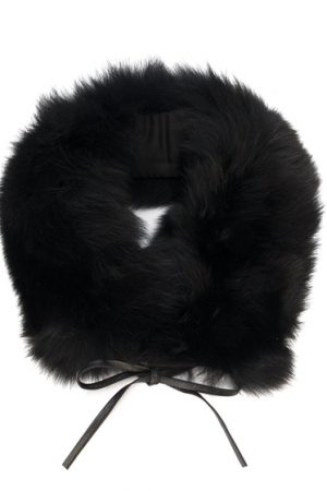 Woolrich Ladies Fox Fur Snood Black