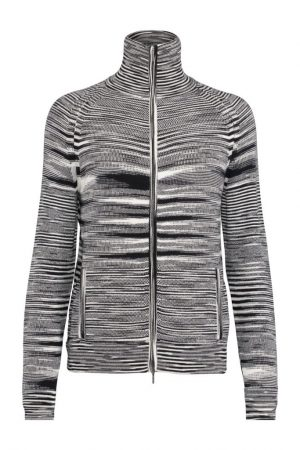 Missoni Men's Cashmere Space-dye Knitted Cardigan Black