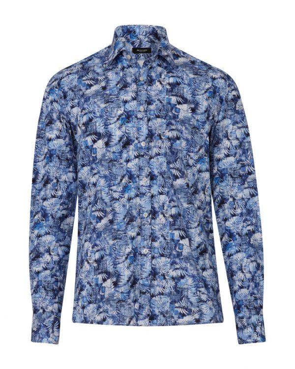 Sand Men's Palm Tree Cotton Shirt Blue