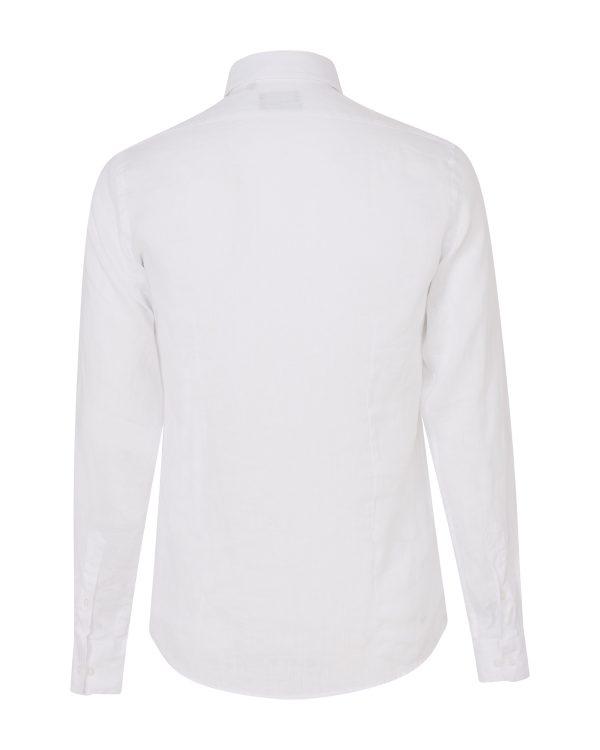 Sand Men's Classic Linen Shirt White BACK